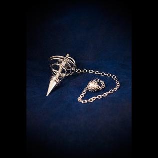 OMEN Silver Spiral Metal Pendulum