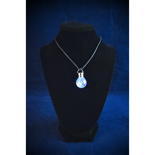 Firefly Pendant with Clear Quartz Tumbled