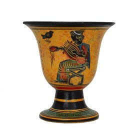 Apollo Ritual Goblet - 4.5 Inches Tall in Handpainted Ceramic from Greece