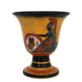 Goddess Athena Ritual Goblet - 4.5 Inches Tall in Handpainted Ceramic from Greece