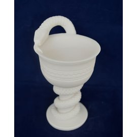 Cup of Asclepius - 5.9 Inches Tall in Alabaster - Made in Greece