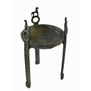 Tripod Censer with Horses - 7 Inches Tall in Bronze - Made in Greece