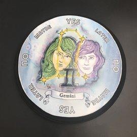 Gemini Zodiac Pendulum Board - Round