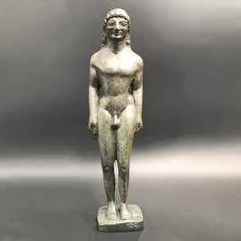 Kouros Statue - 9 inches Tall in Bronze - Made in Greece