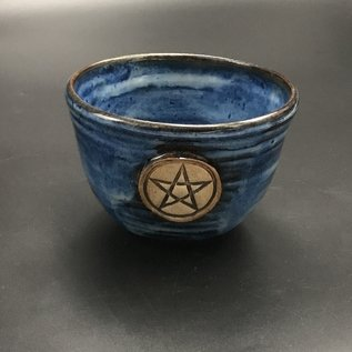 Altar Bowl in Blue with Pentagram