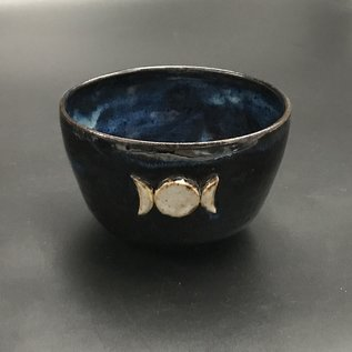 Altar Bowl in Blue with Triple Moon