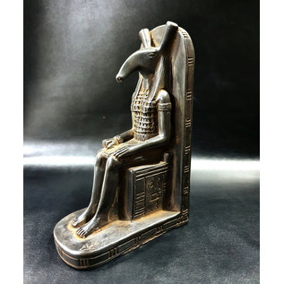 Set Statue - 7.5 Inches Tall in Black Stone - Made in Egypt