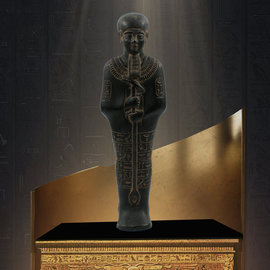 Ptah Statue - 11 Inches Tall in Black Stone - Made in Egypt