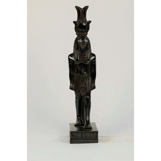 Sobek Statue - 10 Inches Tall in Black Stone - Made in Egypt