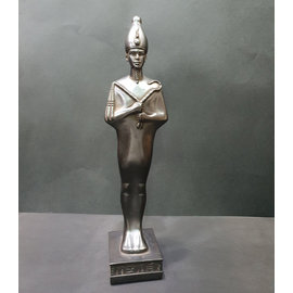 Osiris Statue - 13 Inches Tall in Black Stone - Made in Egypt