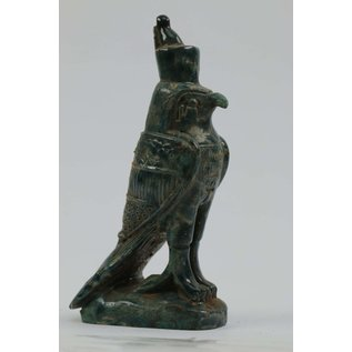 Horus Statue - 7 Inches Tall in Flame Stone - Made in Egypt