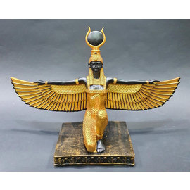 Winged Isis Statue - 12 Inches Tall in  Stone - Made in Egypt