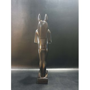 Anubis Statue - 16.4 Inches Tall in basalt - Made in Egypt