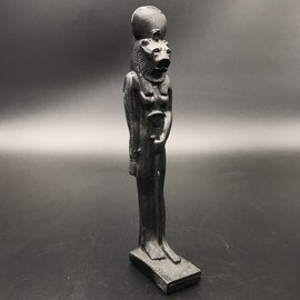 SEKHMET The Egyptian goddess of protection, Good luck - 7.5 Inches Tall Black - Made in Egypt