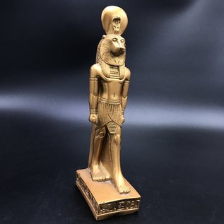 SEKHMET The Egyptian goddess of protection, Good luck - 11 Inches Tall Gold - Made in Egypt