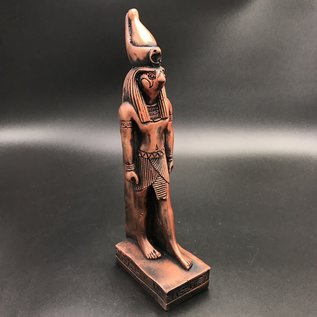 Egyptian God Horus Statue  - 12 Inches Tall in Copper Polystone - Made in Egypt