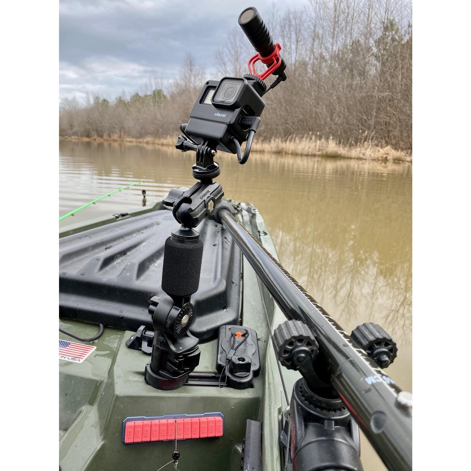"Yakattack YakAttach PanFish Pro Camera Mount, Includes 1/4""-20 mount and GoPro"