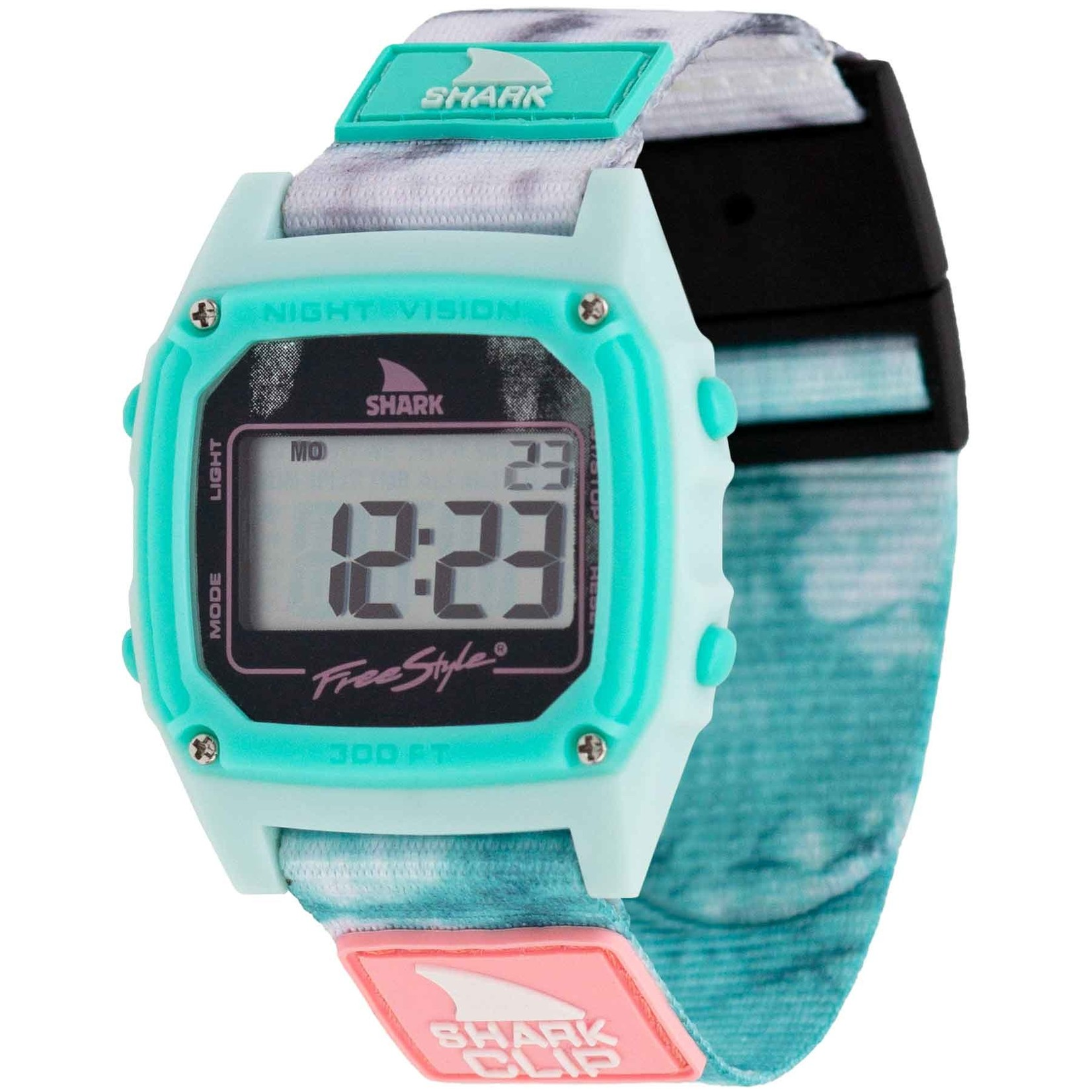 Freestyle Shark Classic Clip Tie Dye Aqua Cloud