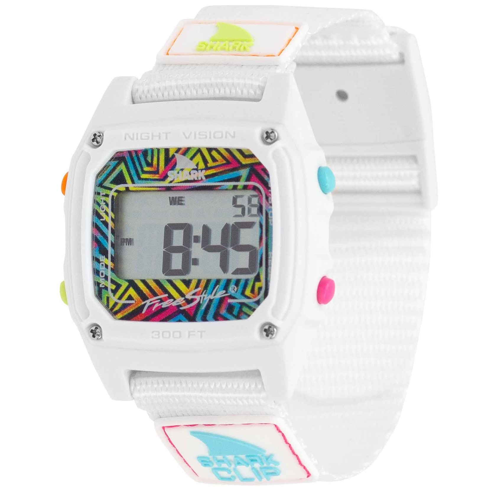 Freestyle Shark Classic Clip Since '81 Neon White