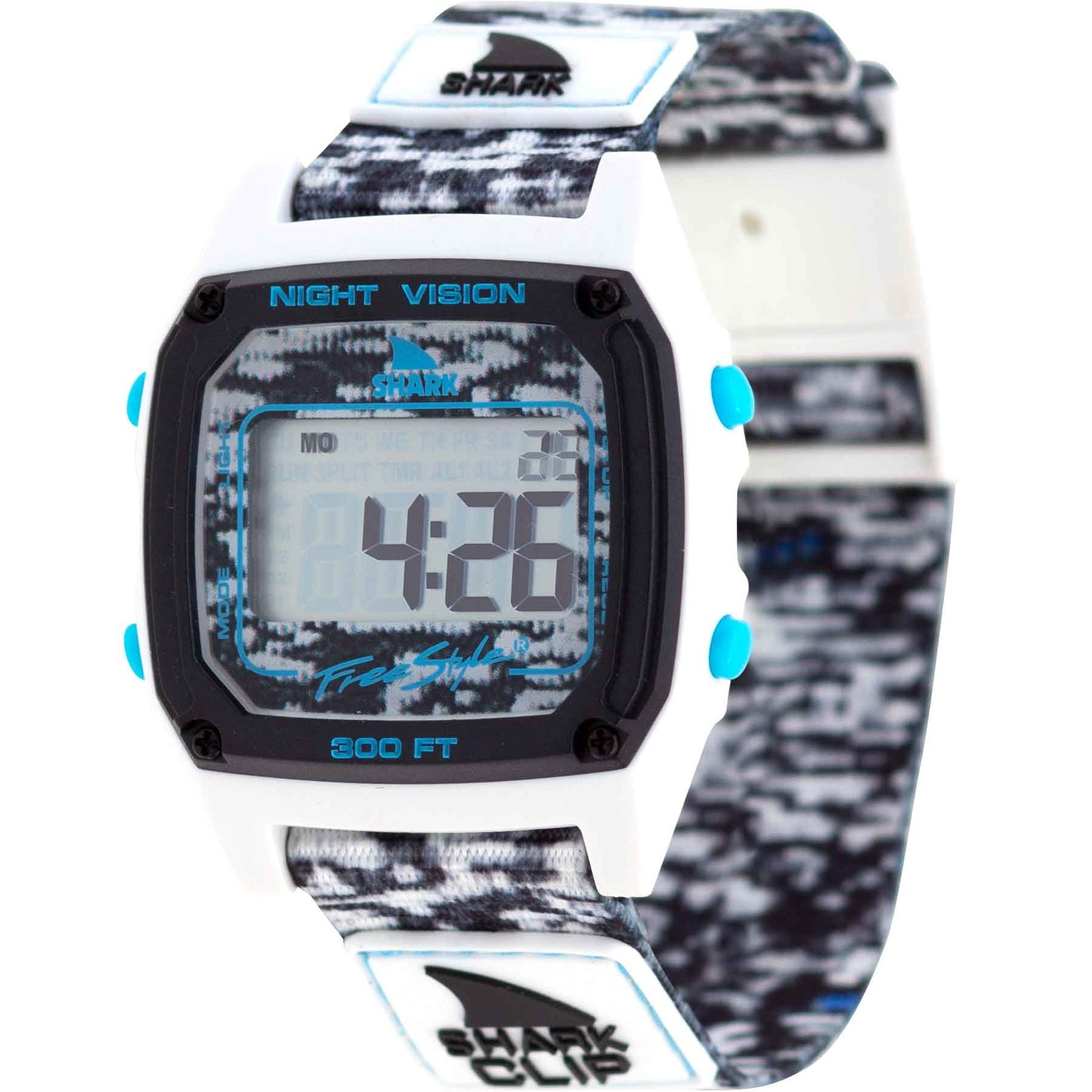 Freestyle Shark Classic Clip White Shockwave