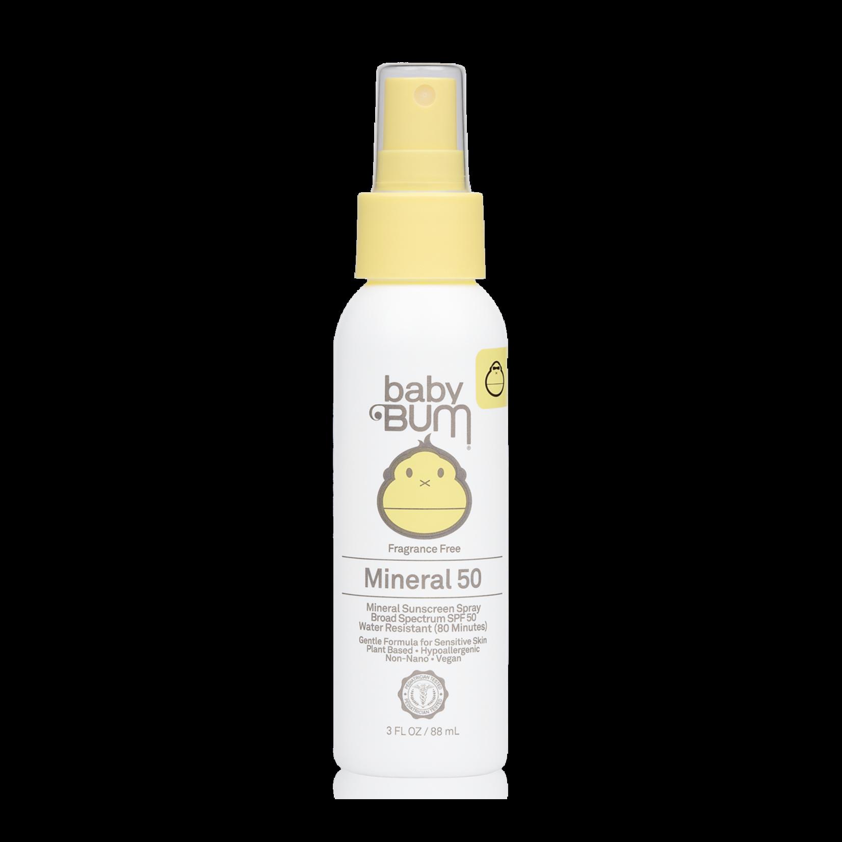 Sun Bum Sun Bum Baby Bum Spf 50 Mineral Sunscreen  Spray - Fragrance Free 3 Oz