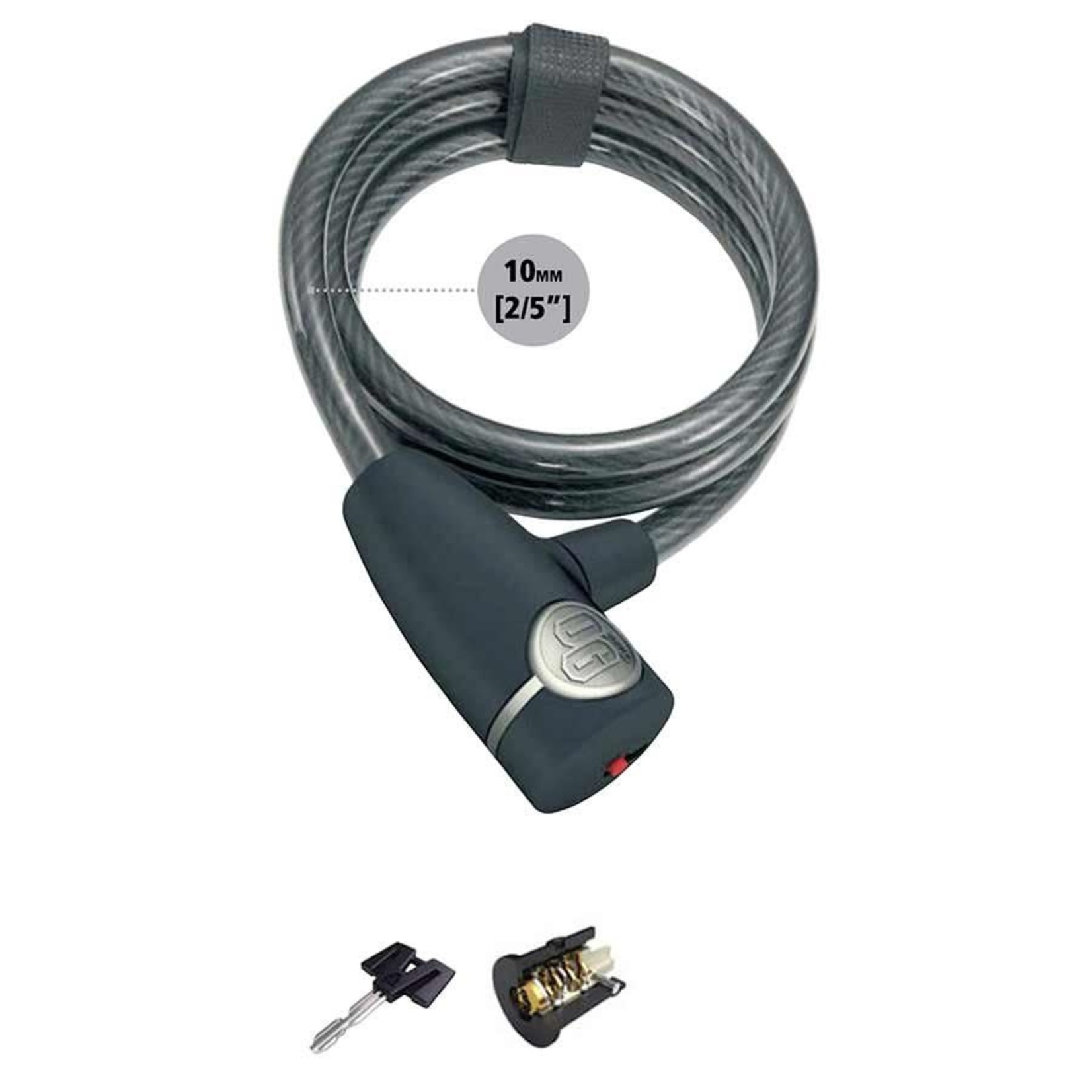 Onguard OnGuard, OG, Coil cable with key lock, 10mm x 120cm (10mm x 4')