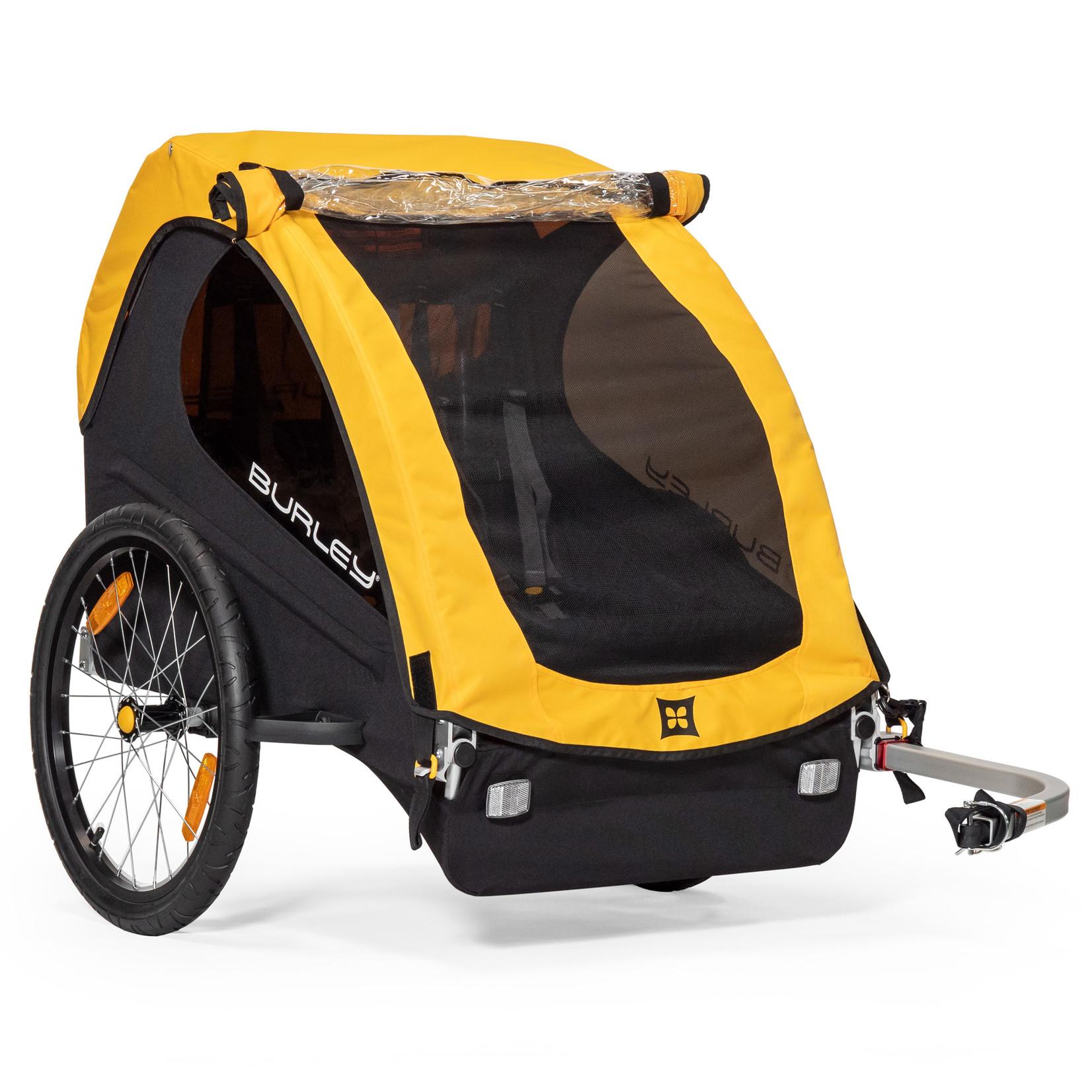 Burley Bee - Child Trailer - Double, Yellow