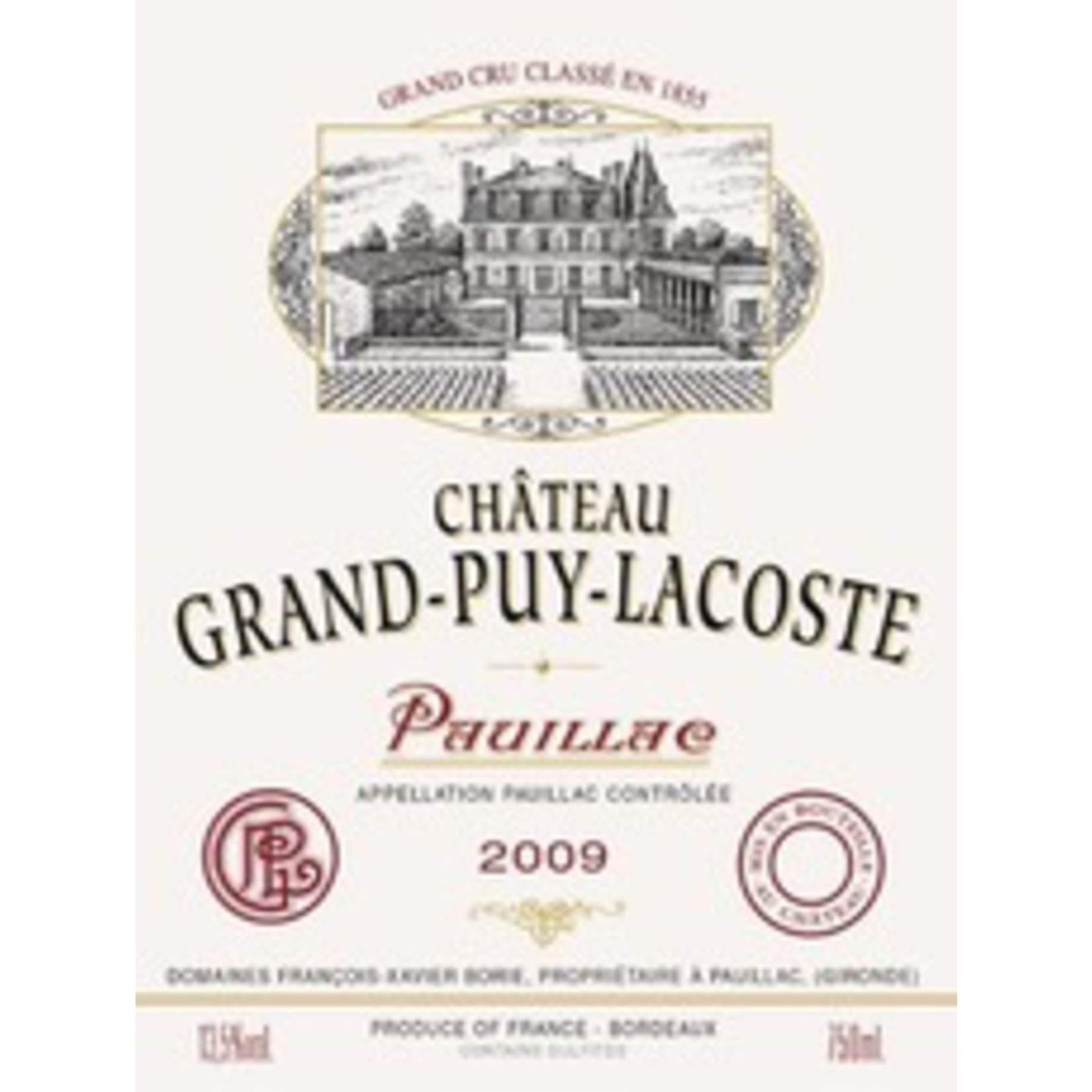 Wine Chateau Grand Puy Lacoste 2009