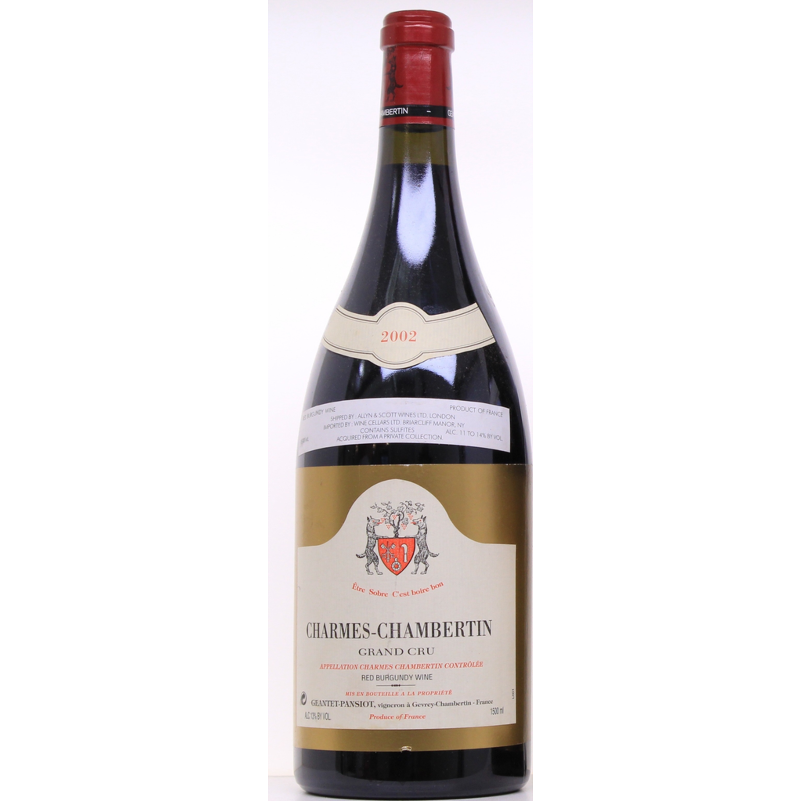 Wine Geantet-Pansiot Charmes Chambertin Grand Cru 2002 1.5L