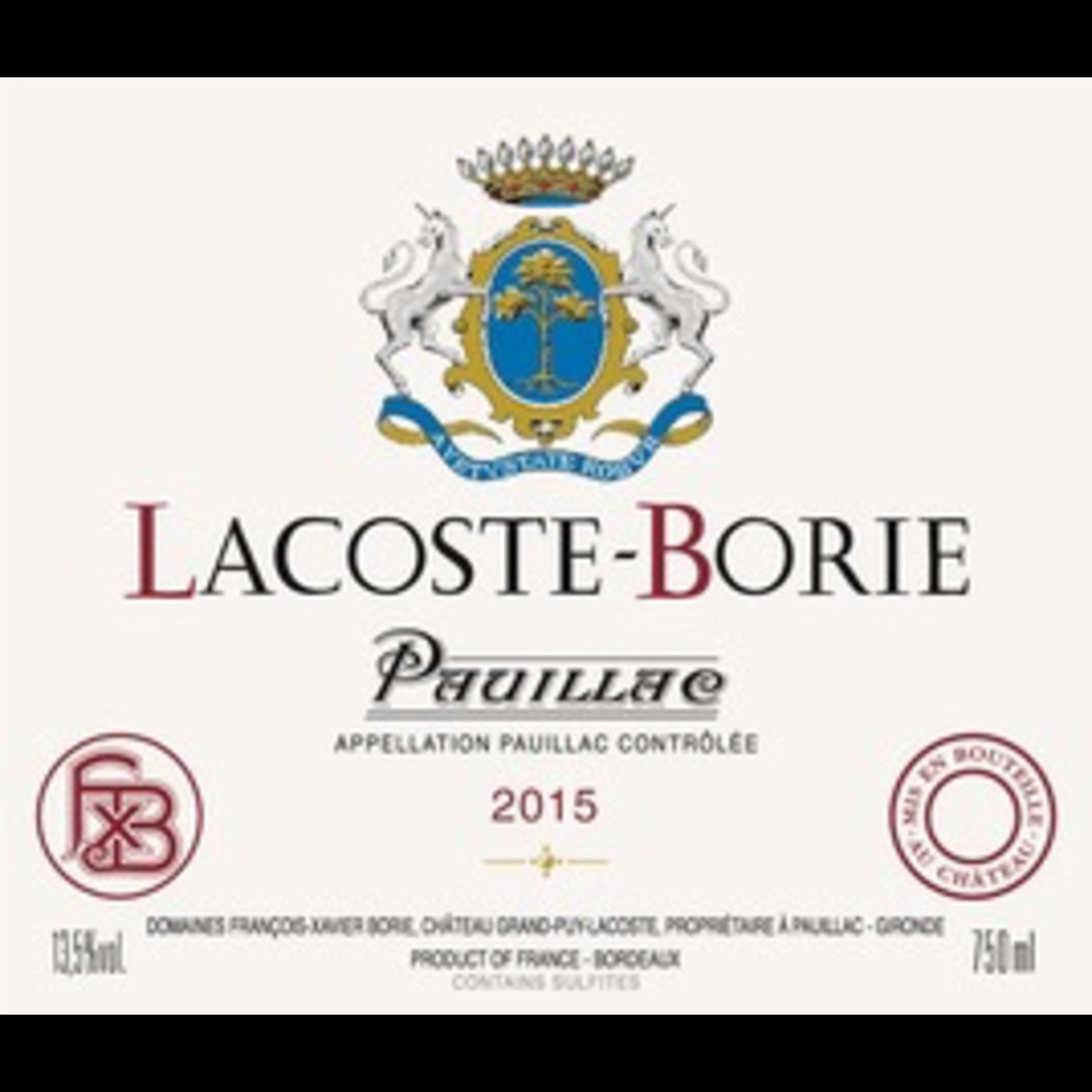 Wine Chateau Lacoste Borie 2018