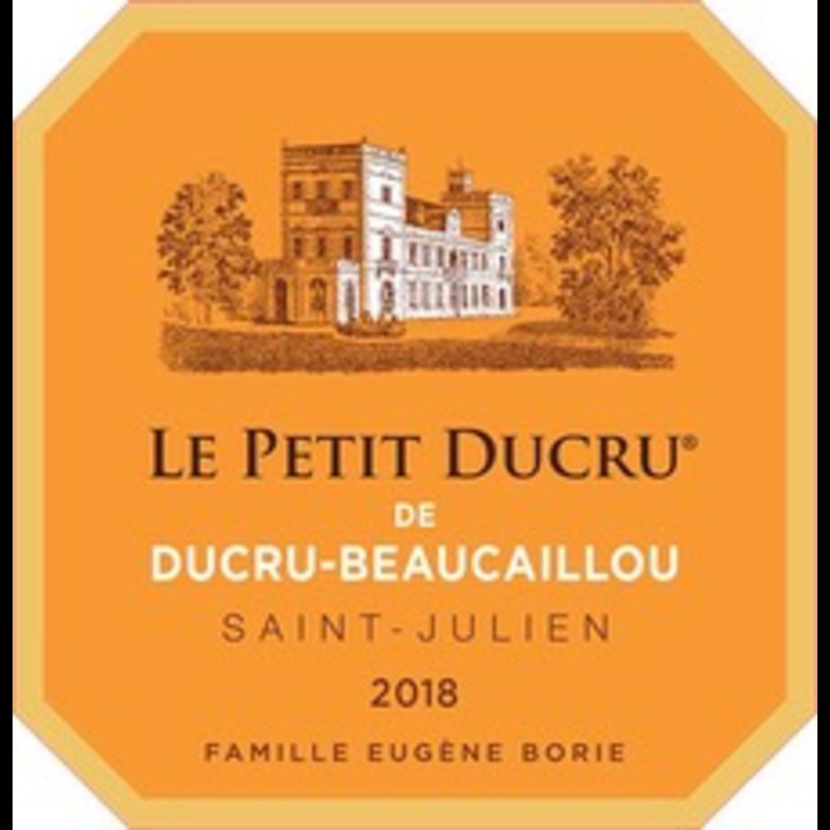 Wine Chateau Petit Ducru Beaucaillou 2018 375ml