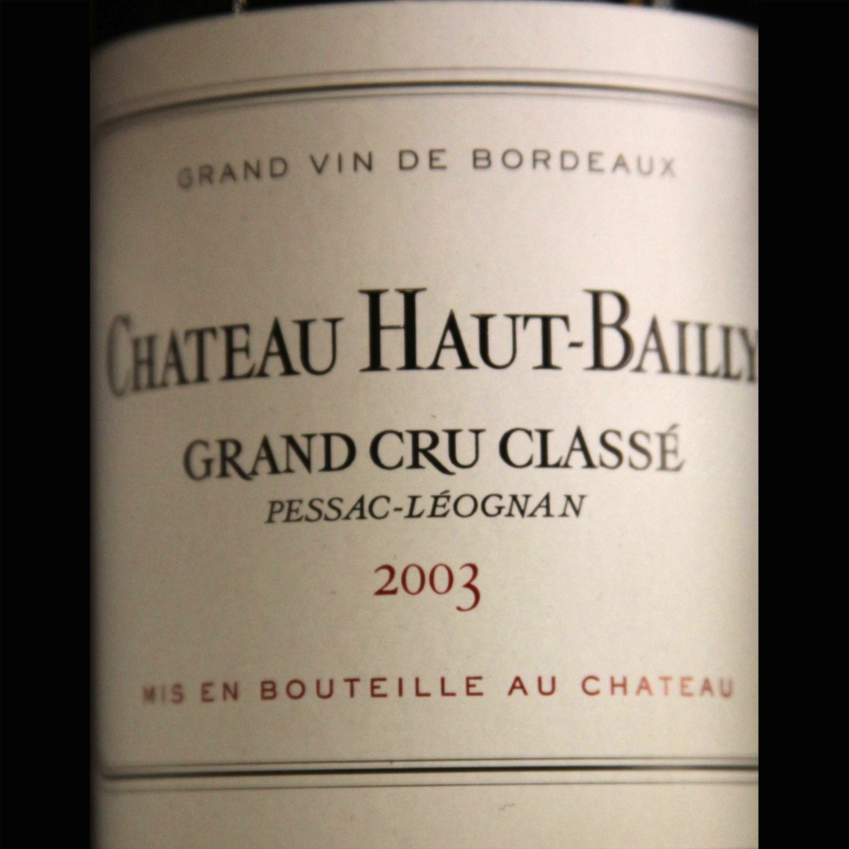 Wine Chateau Haut Bailly 2003