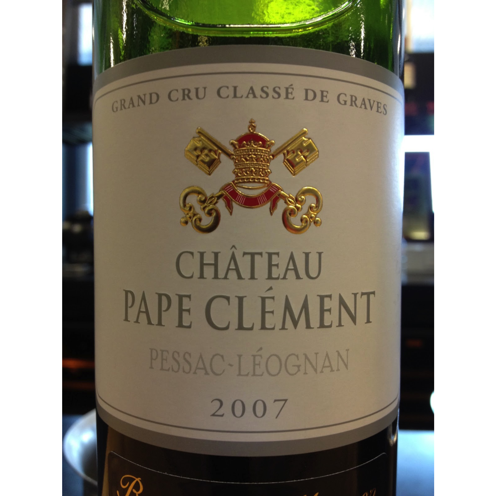Wine Chateau Pape Clement Rouge 2007