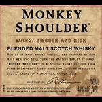 Spirits Monkey Shoulder Blended Malt Scotch Whisky