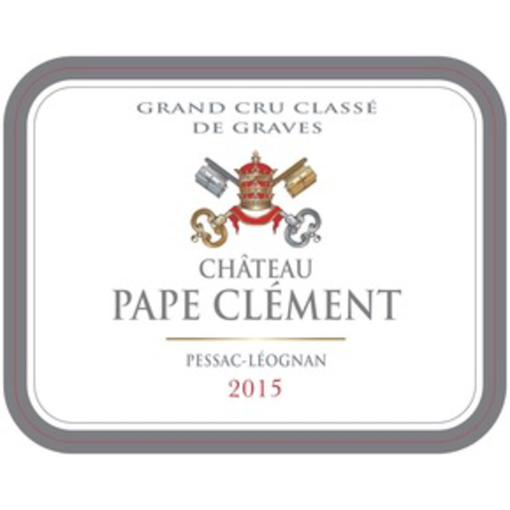 Wine Chateau Pape Clement Rouge 2015