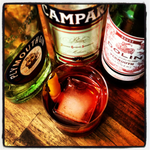 Spirits Negroni Cocktail Pack one bottle each Plymouth Gin, Campari, Dolin Sweet Vermouth 3-pack