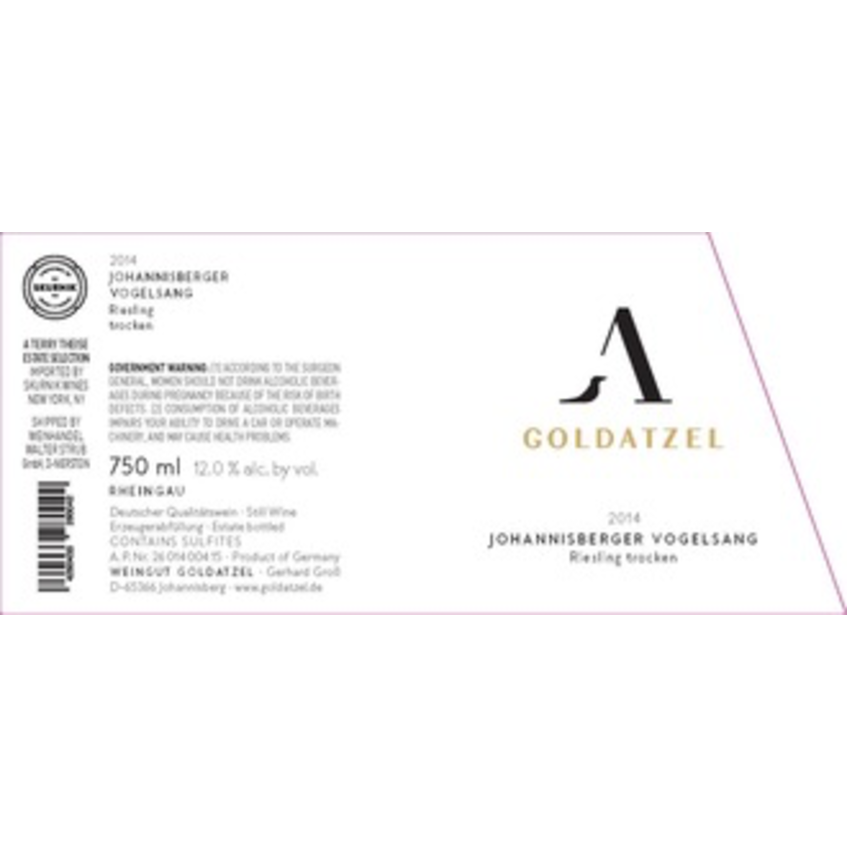 Goldatzel, Riesling Johannisberger Vogelsang Trocken 2016