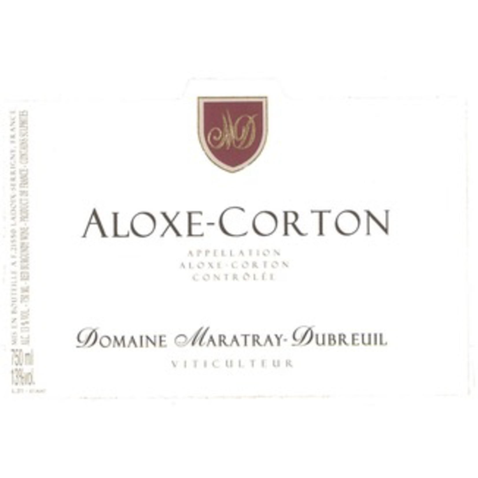 Domaine Maratray-Dubreuil Aloxe Corton 2017