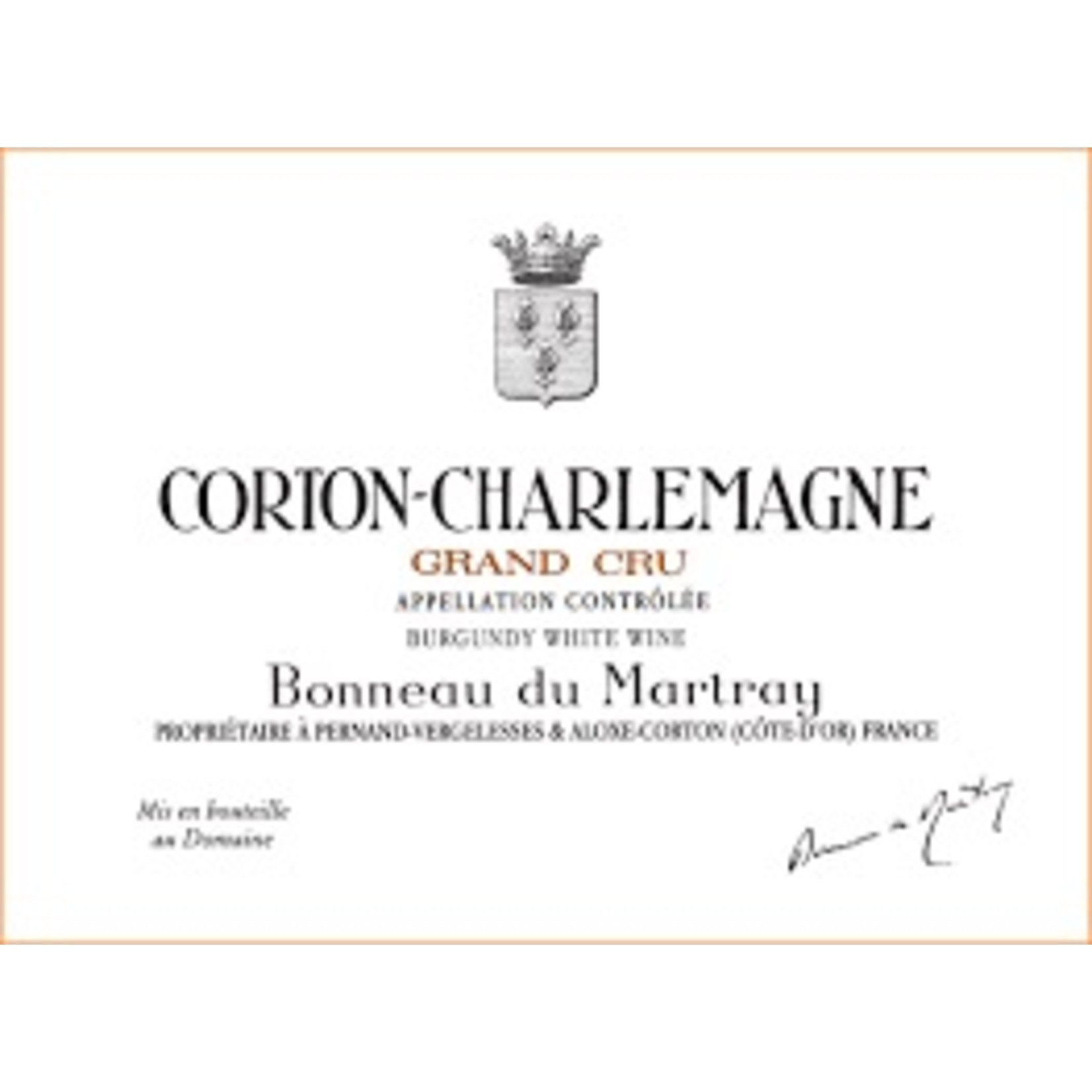 Wine Domaine Bonneau du Martray Corton Charlemagne Grand Cru 2003 1.5L