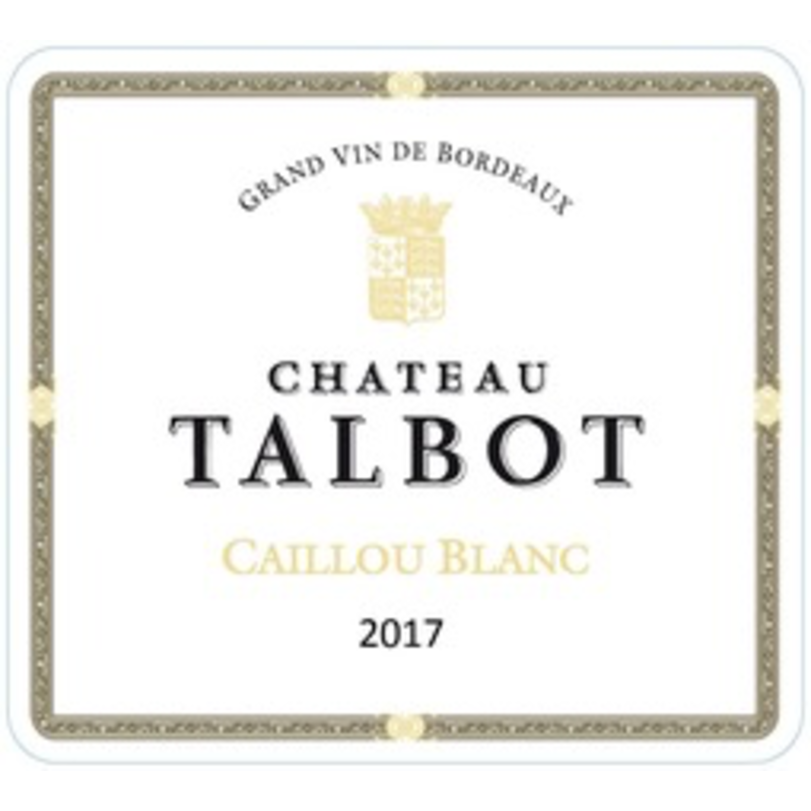 Wine Chateau Talbot, Caillou Bordeaux Blanc 2018