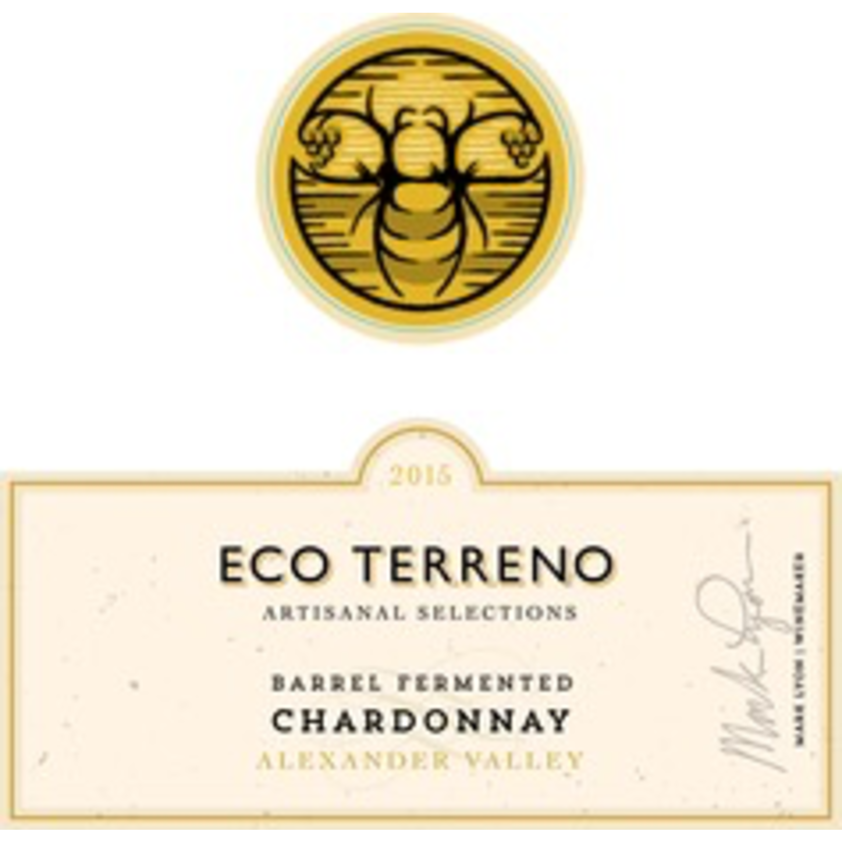 Wine Eco Terreno Chardonnay Alexander Valley 2015