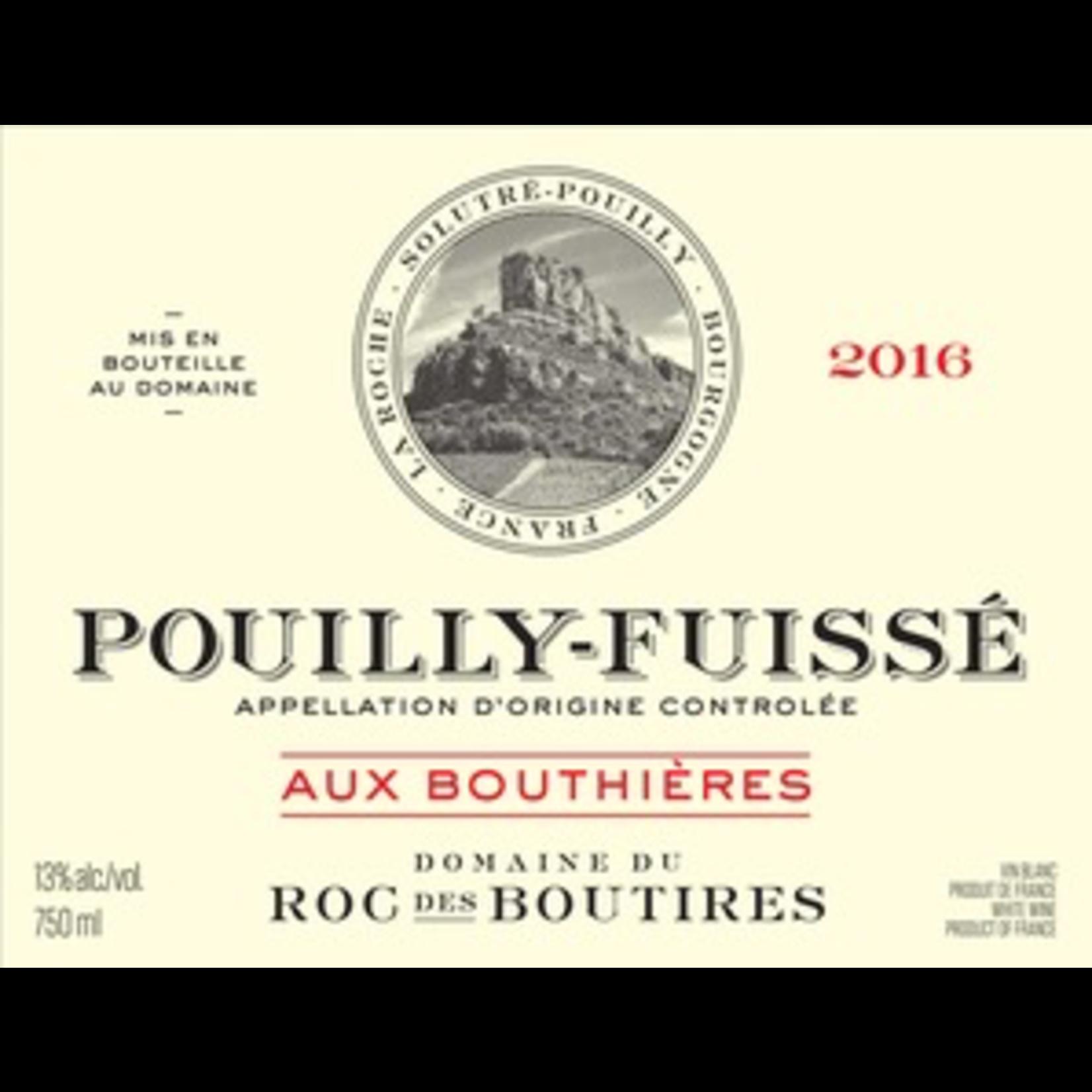 Wine Domaine du Roc des Boutires Pouilly Fuisse Aux Bouthieres 2018
