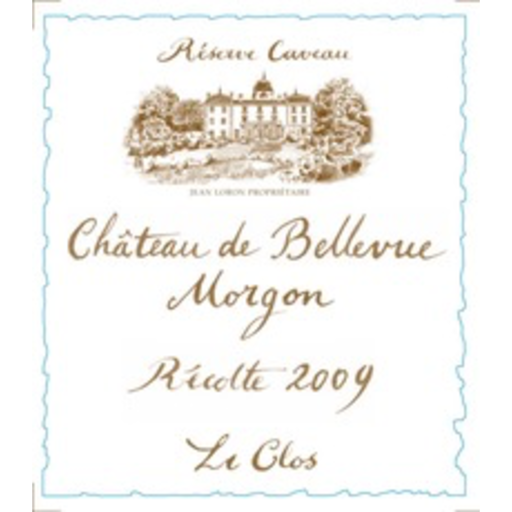 Wine Chateau de Bellevue Morgon Le Clos 2010