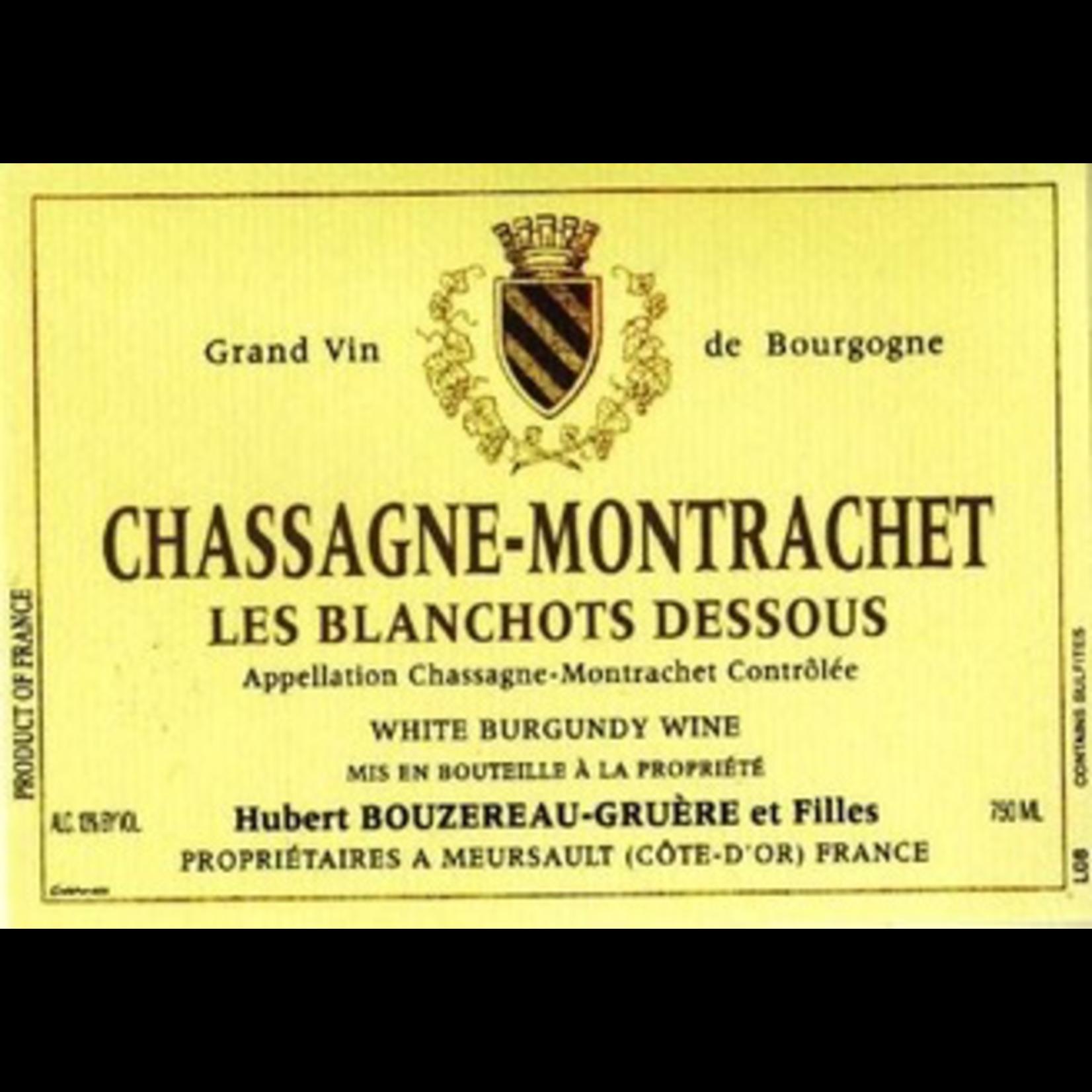 Wine Domaine Hubert Bouzereau Gruere & Filles Chassagne Montrachet Les Blanchots Dessous 2017