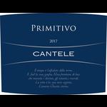 Wine Cantele Salento Primitivo 2017