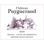 Wine Chateau Puygueraud Francs Cotes de Bordeaux 2016