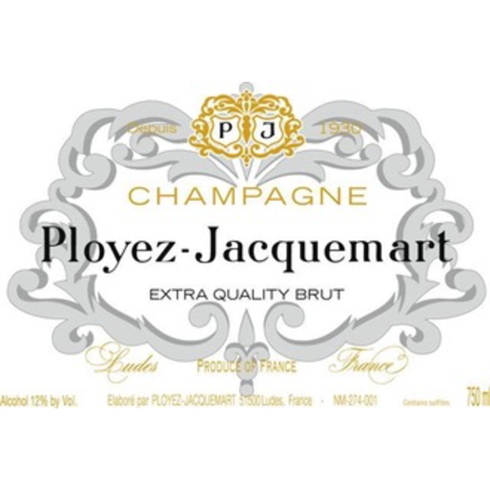 Sparkling Champagne Ployez Jacquemart Champagne Extra Quality Brut 375ml