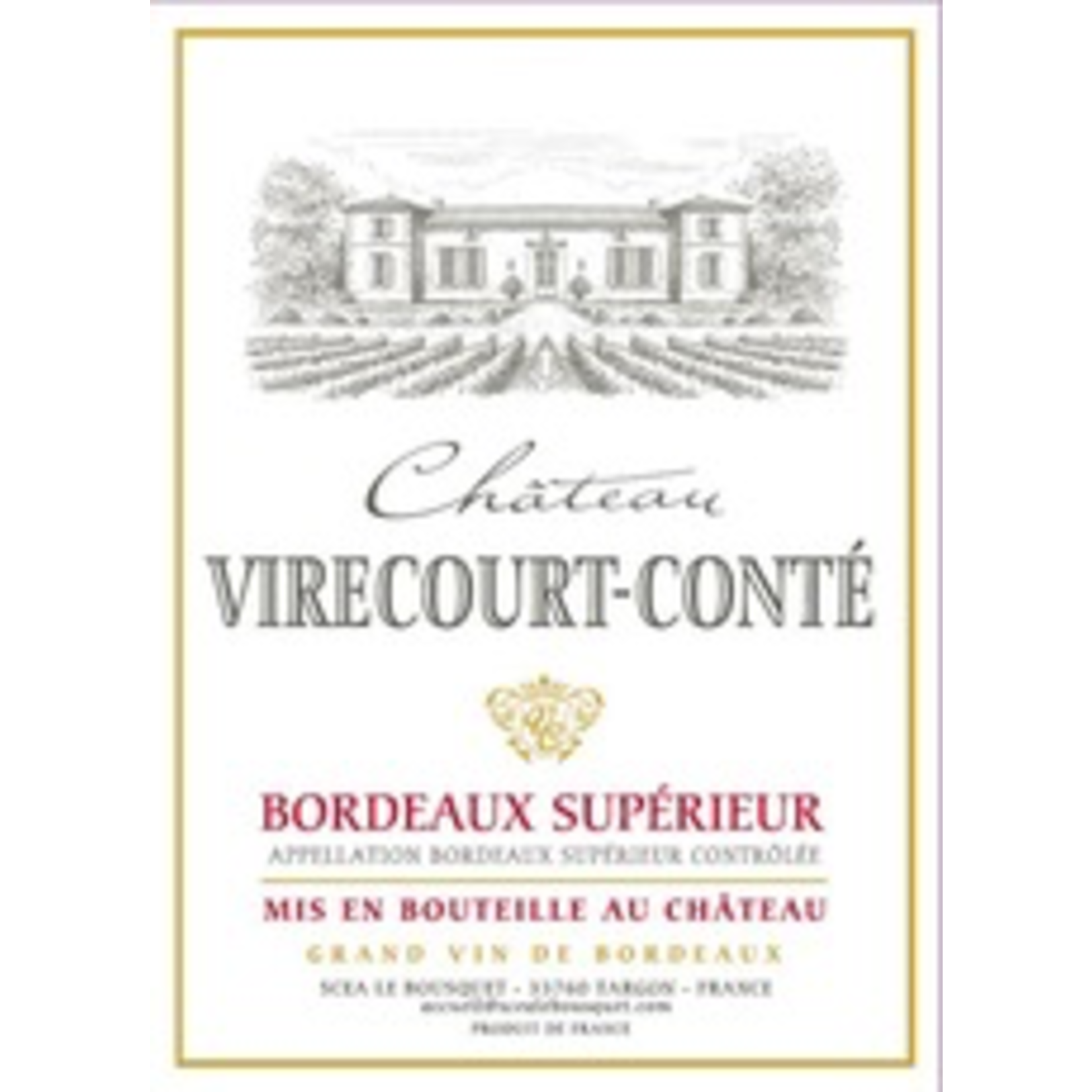 Wine Chateau Virecourt-Conte Bordeaux Superieur 2016