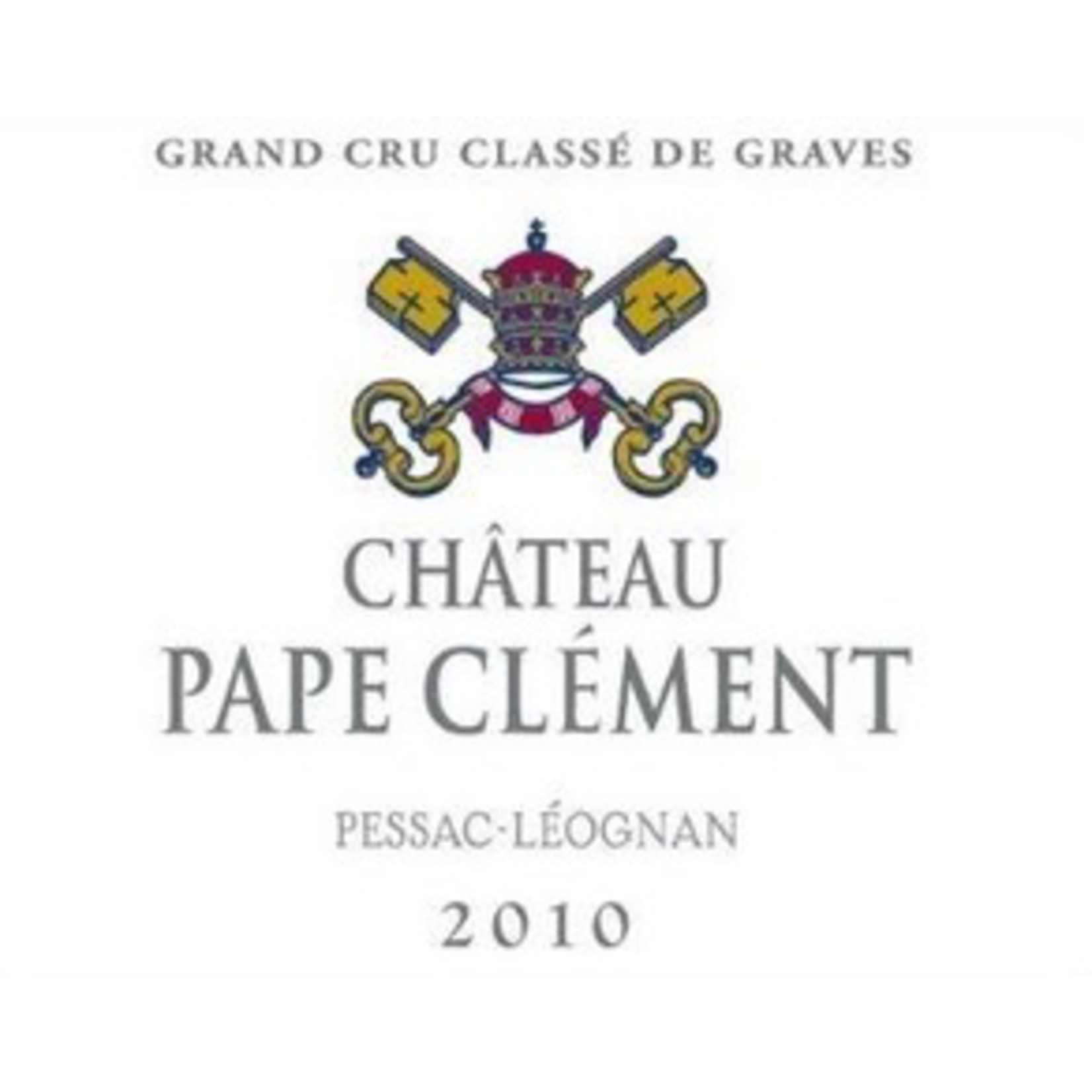 Wine Chateau Pape Clement Rouge 2010