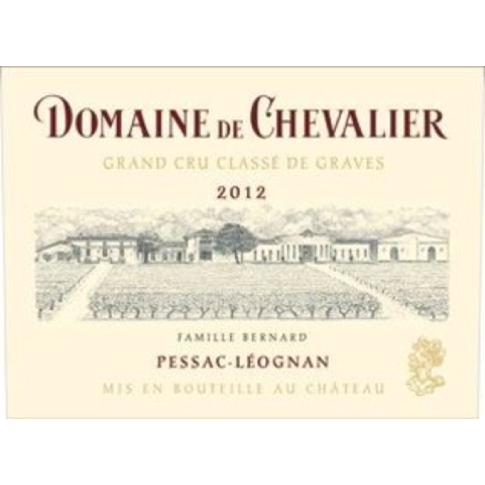 Wine Domaine de Chevalier Rouge 2012